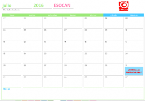 actividades esocan julio 2016