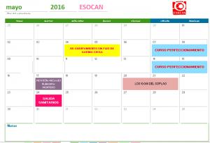 actividades esocan mayo 2016