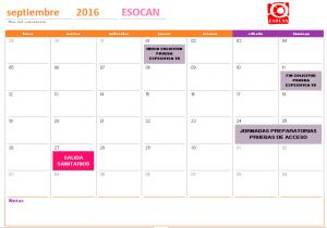actividades esocan septiembre 2016