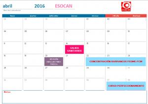 actividades esocan abril 2016