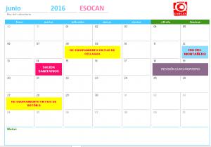 actividades esocan junio 2016