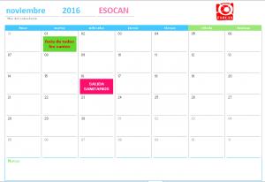 actividades esocan noviembre 2016